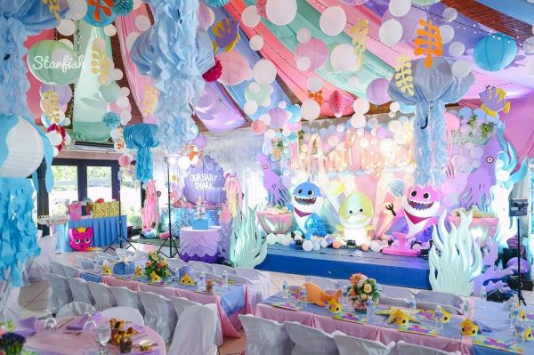 Aaliyah S Quirky Baby Shark Themed Party Shark Theme Birthday Shark Themed Birthday Party Shark Themed Party