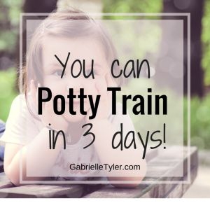 You can potty train in three days, this post will tell you exactly how. I potty trained a 3 year old and a 23 month old this way!
