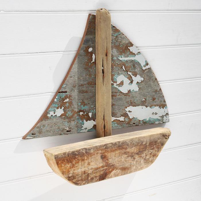 Wood Sailboat Wall Decor : Driftwood sailboat wall hanging model wooden boat