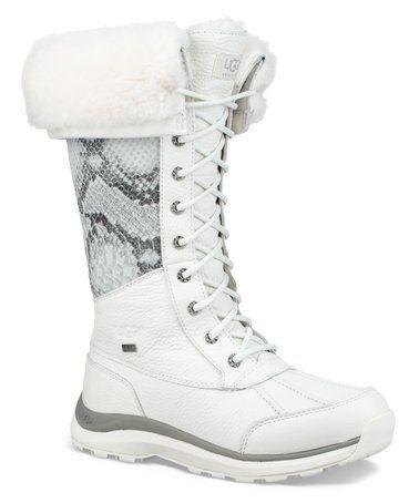 35989ba900f White Snake-Embossed Adirondack Tall III Leather Boot - Women ...