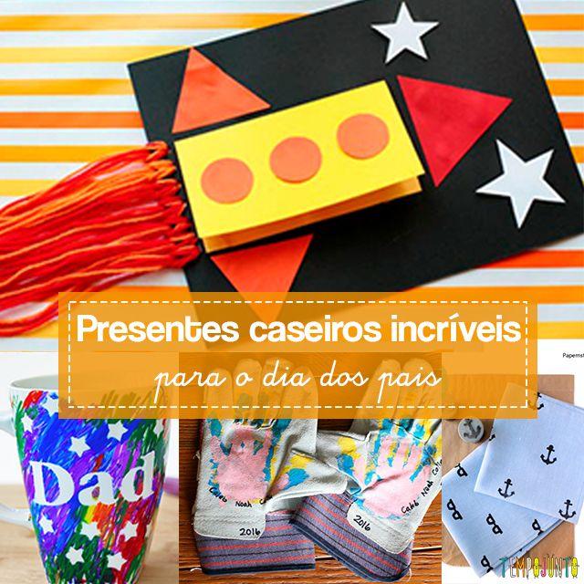 Um conjunto de ideias criativas de presentes para o Dia dos Pais para sentar e fazer com as crianças.