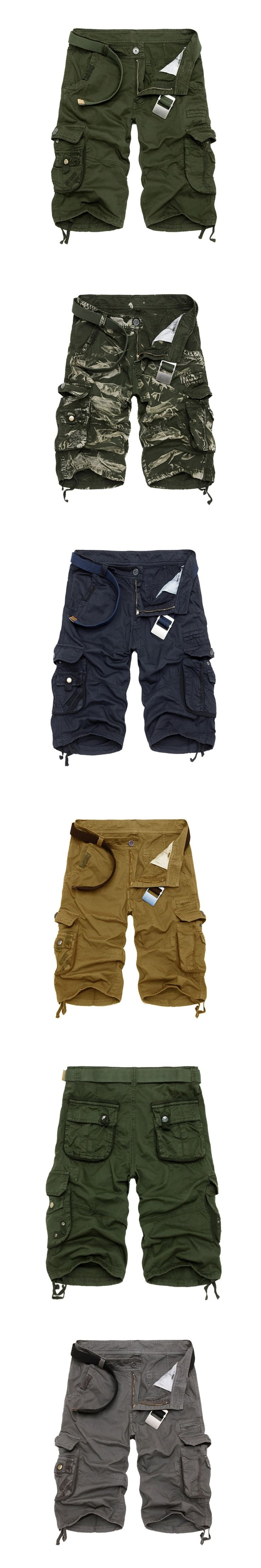 2017 Cargo Shorts Men Casual Camouflage Summer Clothing Cotton Male Fashion Army Work Shorts Men  2017