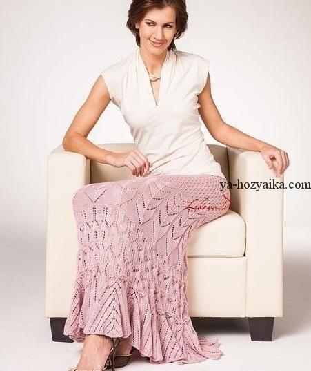 Ажурная юбка спицами схемы. Вязаные юбки спицами схемы бесплатно