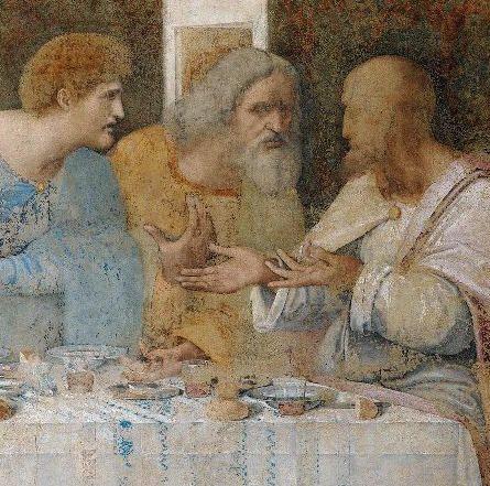 "Leonardo da Vinci  ""Ultima Cena"": detail  St.Maria Delle Grazie  Church (Milan)"