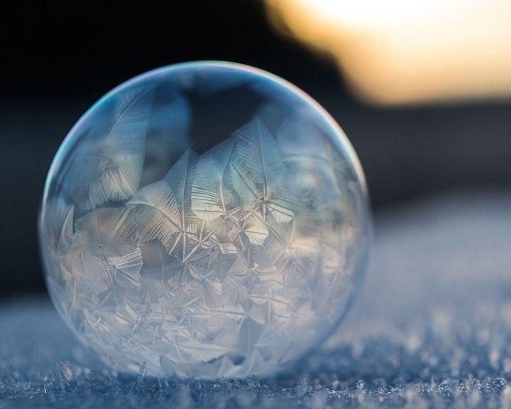 Photos capture the curious phenomenon of frozen bubbles