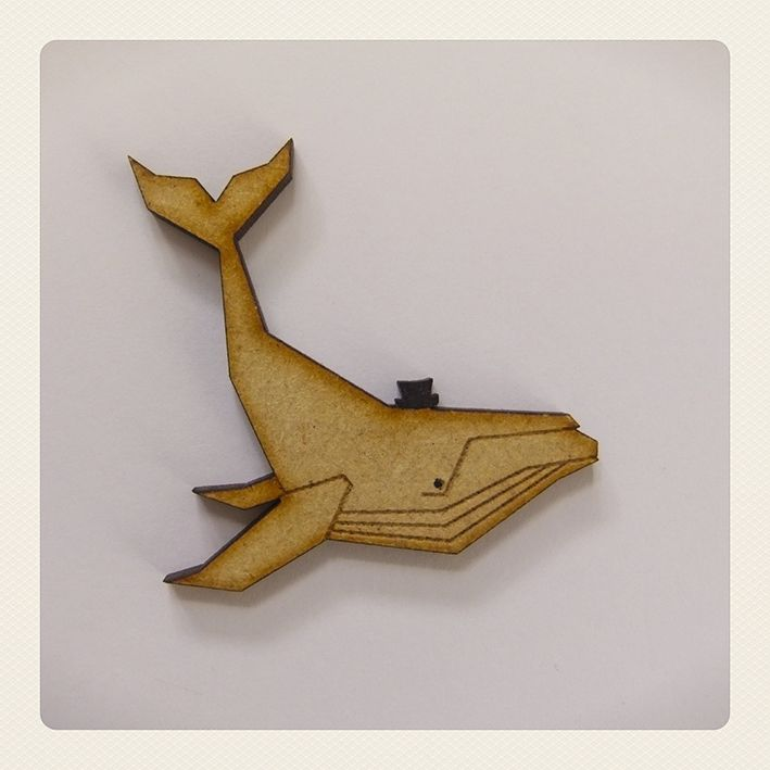 Whale with Hat Brooch - Utique | the online gift boutique