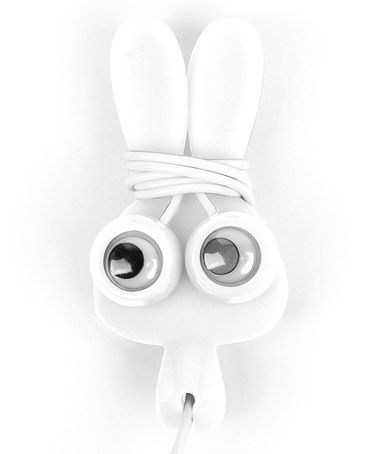 Take a look at this White Bunny Buddy Earbuds & Cord Wrap by Kikkerland on #zulily today!