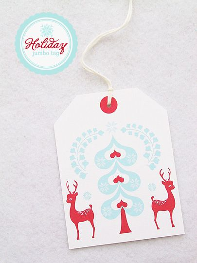 Holiday Jumbo Gift Tag » Eat Drink Chic >> Corrected Link