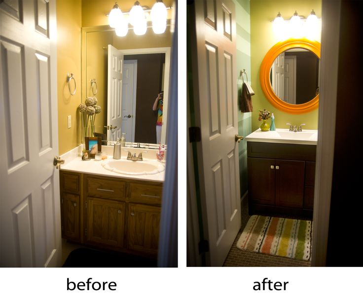 before and after bathroom redo | Bathrooms | Pinterest