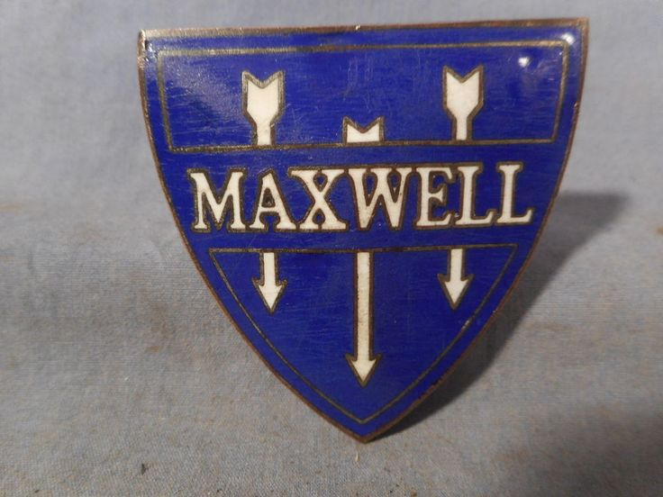 Original MAXWELL Emblem Badge Ornament Grille Radiator Cloisonné Enamel 1920s?
