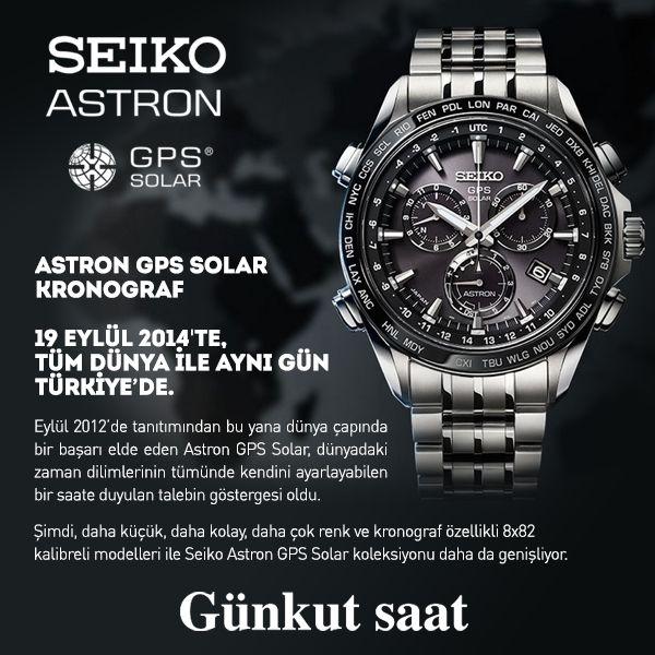 Seiko Astron GPS Solar Kronograf, Tüm Dünya ile Aynı Gün Günkut Saat'te...  Satın almak için;  http://www.gunkutsaat.com/seiko-astron-gps-solar-kronograf-tum-dunya-ile-ayni-gun-turkiye