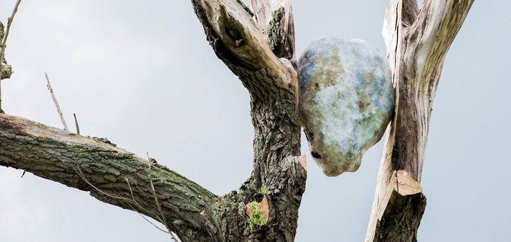 Close up van kunstwerk Waterkracht Made by Frans van Hintum Beeldhouwwerken