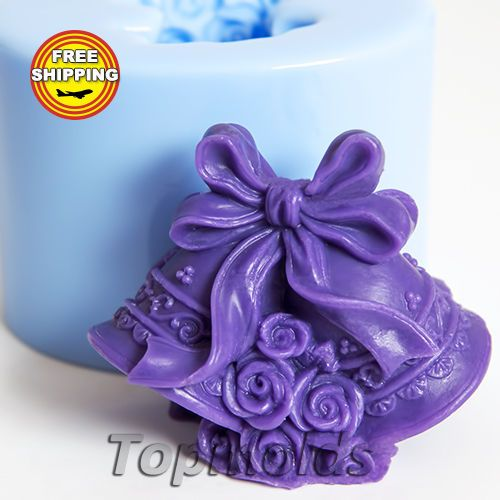 This mold has a cut. This is not a defect! This cut allows you to extract the finished product from the mold. Material: Flexible Silicone Name: Bells 3d.   eBay!