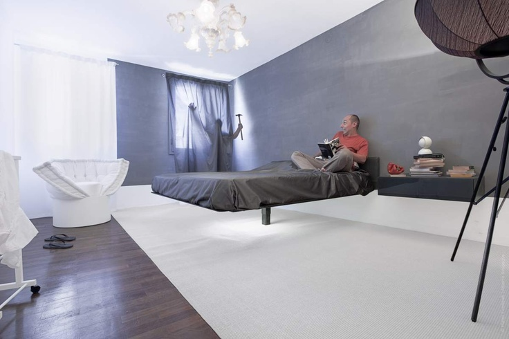 Fluttua Bed By Daniele Lago Ghost Room In Venice Bedroom - Lago bed