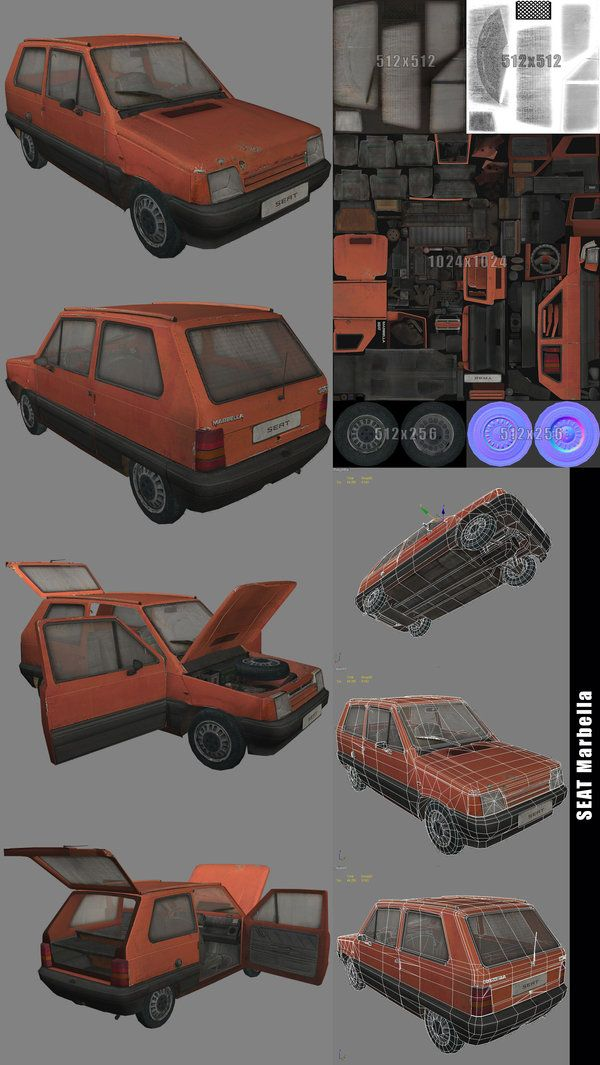 Vehicle 3D Seat Marbella by Kruku.deviantart.com on @deviantART