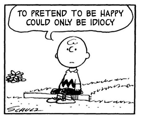 To pretend to be happy could only be idiocy - Peanuts and Morrissey and The Smiths