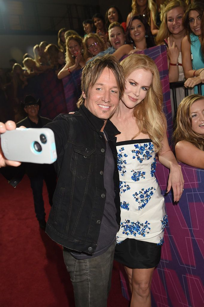 Nicole Kidman and Keith Urban snapped a picture on the red carpet at the CMT Music Awards in June 2014.