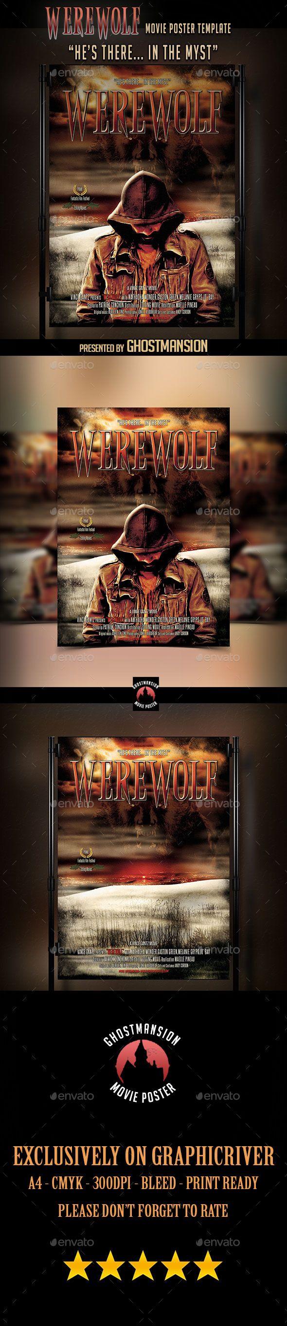 """""""Werewolf"""" Movie Poster Template"""