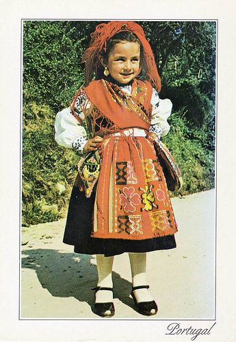 A Little Girl in Traditional Costume of Viana, Portugal