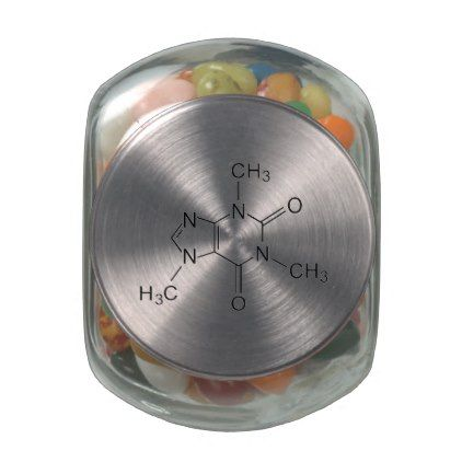 caffeine chemical formula coffee chemistry element jelly belly candy jar - kitchen gifts diy ideas decor special unique individual customized