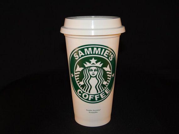 Starbucks Personalized Coffee Travel Mug  16 by StarTangledArts