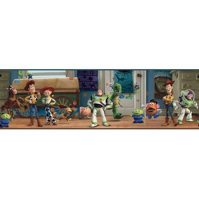"""Room Mates Toy Story Andy's Room 9' x 1.5"""" Border Wallpaper"""