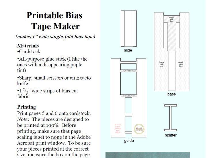 yo elijo coser: Máquina para hacer bies (sesgo). Descargar plantilla gratis