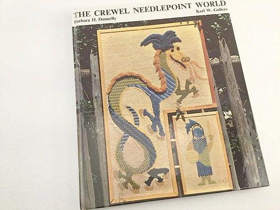 Crewel Pattern, Needlepoint Pattern, Crewel Book, Needlepoint Book, Crewel World, Learn Crewel, Care of Needlepoint, Crewel Stitch Pattern
