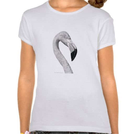"""Flamingo""  Girls Bella T- Shirt"