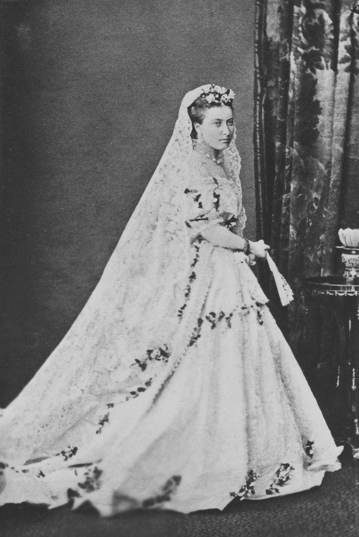 Princess Helena, in her wedding dress, 5 July 1866 [in ...