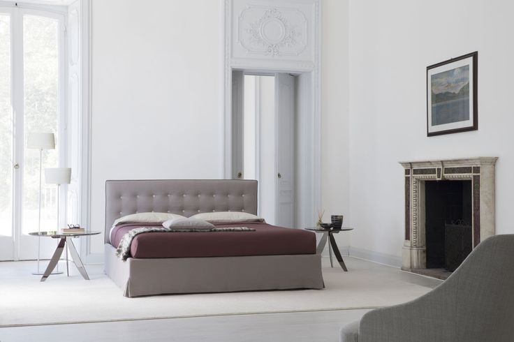 Marais Quilted Headboard Bed made to measure, available with a container box and completely removable slipcovers.