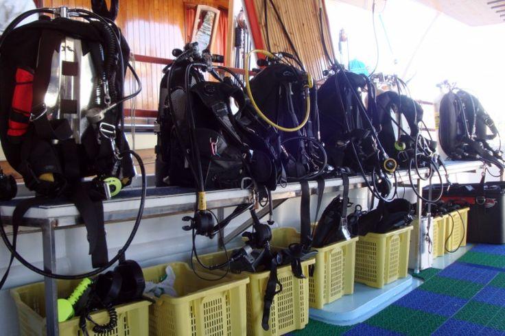 our diving equipment, Konkordia ship, Croatia