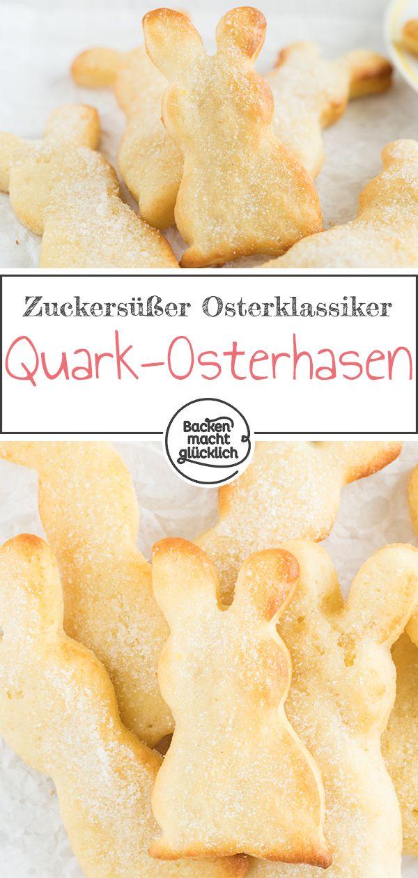 Quarkhasen aus Quark-Öl-Teig