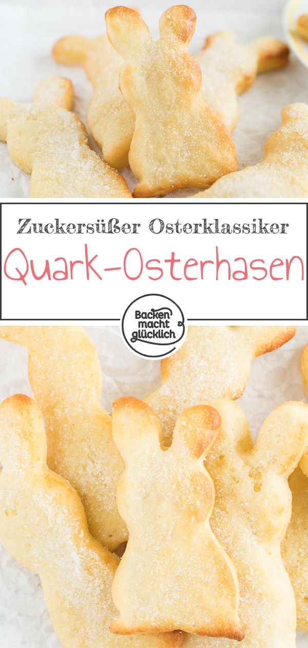 Quark bunnies made from curd oil dough