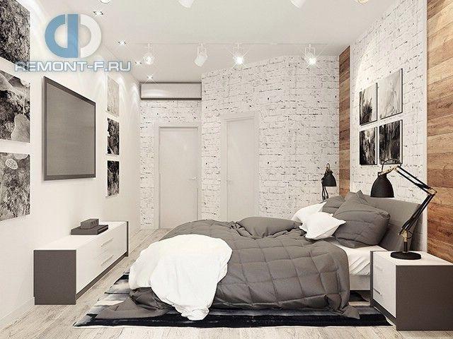 Фото квартиры. Спальня в стиле лофт.