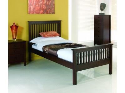 Bentley Designs Atlantis Dark Wood Single Bedstead
