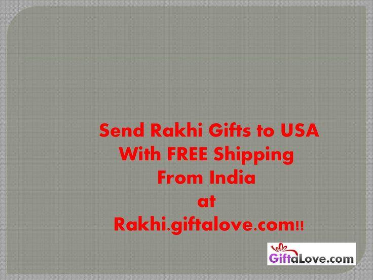 Send Rakhi to USA with FREE Shipping!