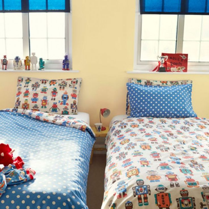 Cath kidston robot duvet set victoria linen company for Cath kidston style bedroom ideas