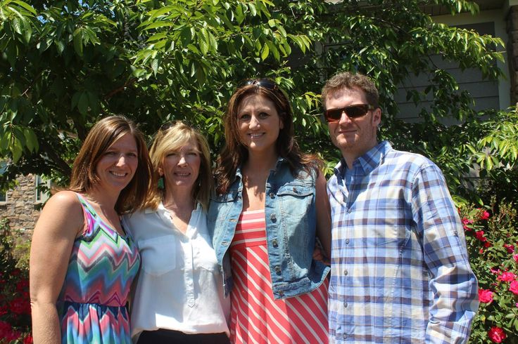 Kelley Earnhardt on Mother's Day with Mom,( Brenda), her sister( not Taylor Nicole) and Dale Earnhardt Jr
