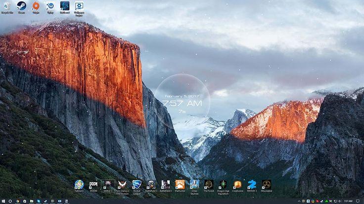 Snowy Mountain Clock v2 Wallpaper Engine | Macbook pro ...
