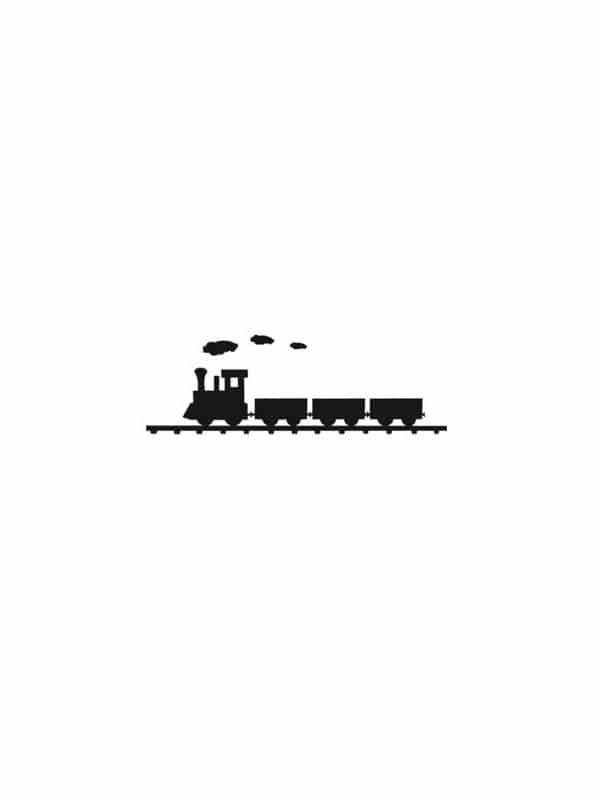 Väggdekor - Tåg passande till barnrummet i en tavla.