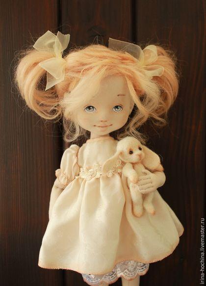 Коллекционные куклы ручной работы. Ярмарка Мастеров - ручная работа. Купить Я играю.... Handmade. Бежевый, кукла из ткани