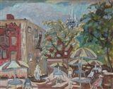 Sidney+Charles+Mooney+-+Tin+Court+Yard,+1985,+Oil...+on+MutualArt.com