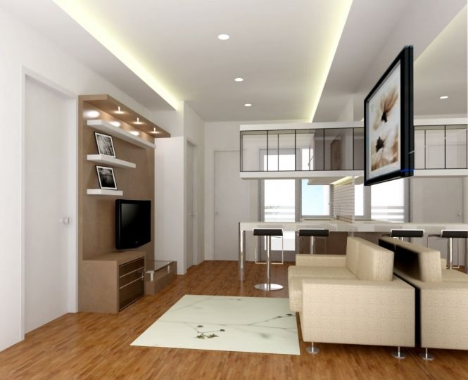 25 ide terbaik tentang apartemen studio di pinterest for Desain apartemen studio 21m