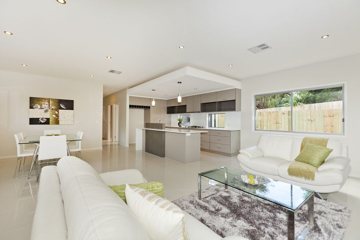 Open Plan Living/Dining/Kitchen.   Bulkhead Over Kitchen, Lots of Natural Light & Modern Finishes.  Wynnum, Brisbane