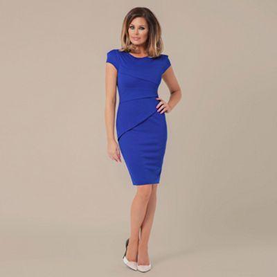 Jessica Wright Blue 'Vicky' cap sleeve panel dress- at Debenhams.ie