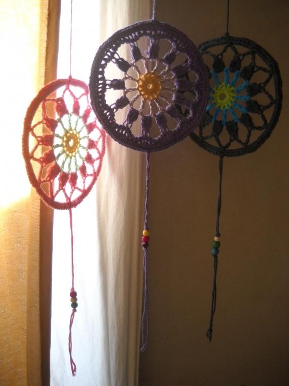 Mandalas tejidos: color tu hogar pequeños - Adornos - Casa - 394617