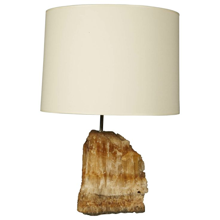 Natural Quartz Base Lamp | From a unique collection of antique and modern table lamps at http://www.1stdibs.com/furniture/lighting/table-lamps/