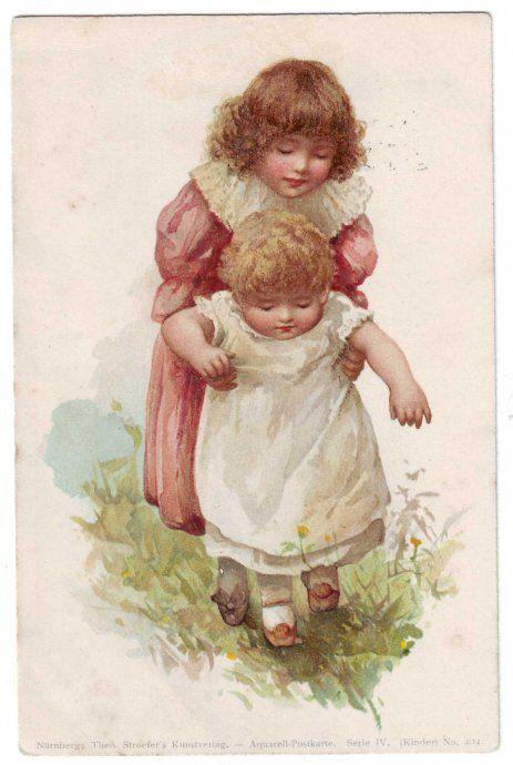 Vintage postcard illustrated by Harriett Mary Bennett- English - late 1800's…