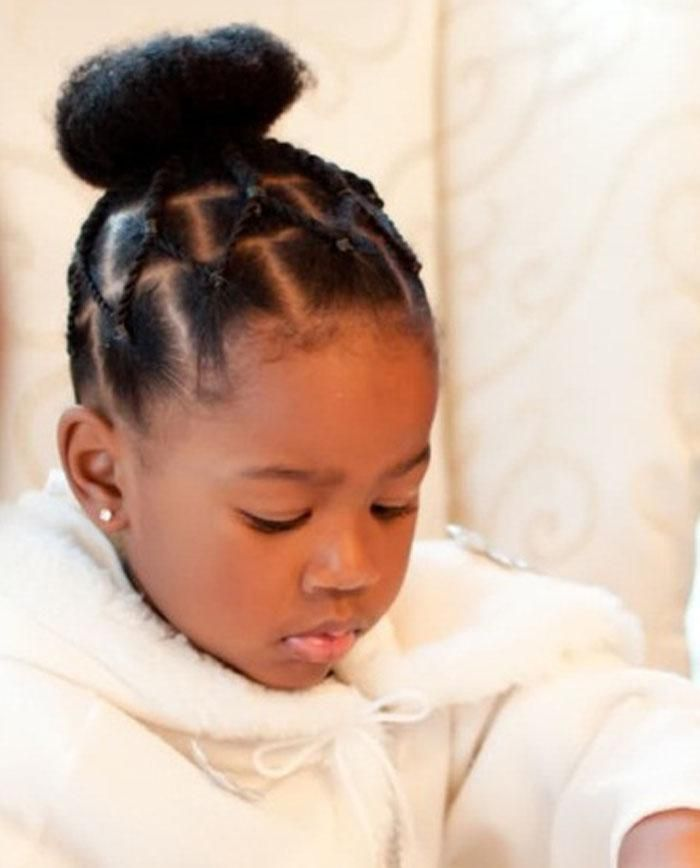 Admirable 1000 Ideas About Black Kids Hairstyles On Pinterest Kid Hairstyles For Women Draintrainus